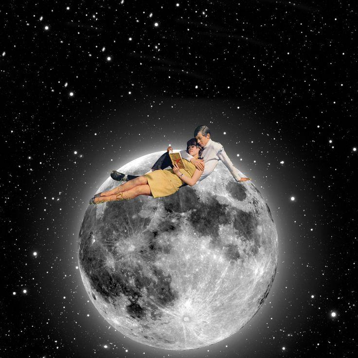 "Saatchi Online Artist: Steven Quinn; Photography 2013 Collage ""Lunar date"""