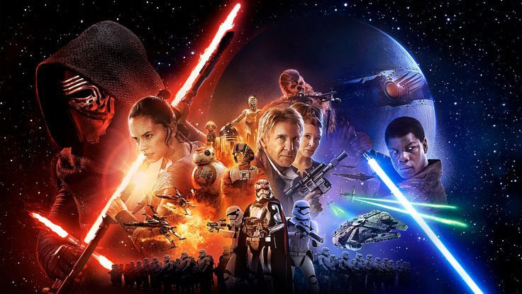 Filme Star Wars Episode VII: The Force Awakens  Kylo Ren Han Solo Rey (Star Wars) Chewbacca R2-D2 Millennium Falcon Finn (Star Wars) Princess Leia Lightsaber Star Wars Papel de Parede