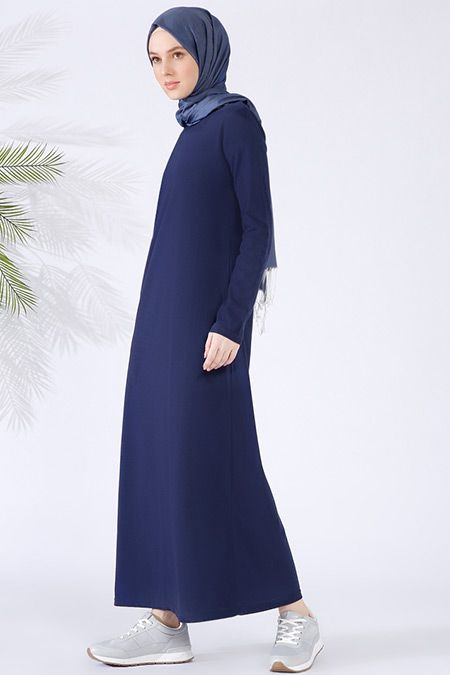 Everyday Basic Lacivert Doğal Kumaşlı Tek Renkli Elbise - 39.99 TL  http://alisveris.yesiltopuklar.com/everyday-basic-lacivert-dogal-kumasli-tek-renkli-elbise.html