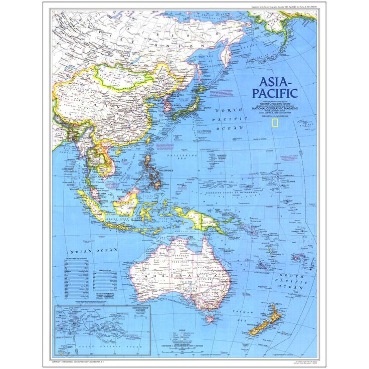 1989 Asia-Pacific Map | National Geographic Store