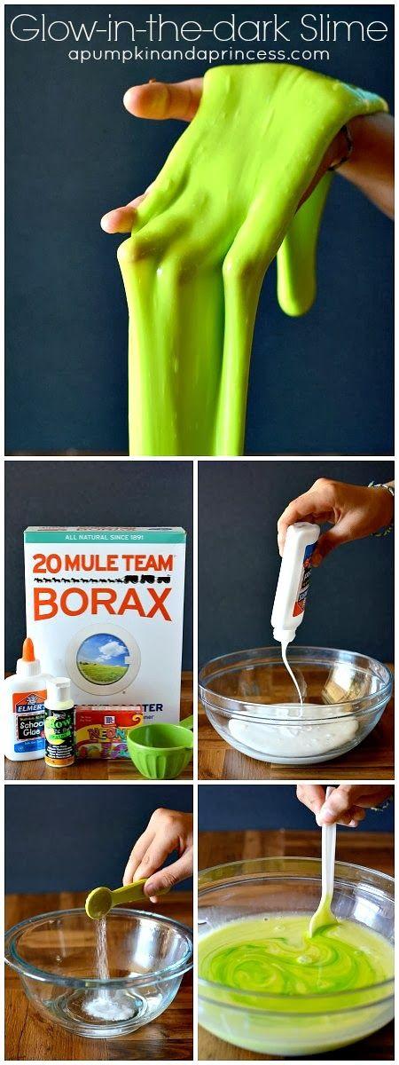 DIY Glow in the dark Slime Recipe