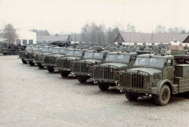 A line up of Mighty Antar's of the 16 Tank Transporter squadron RCT BAOR