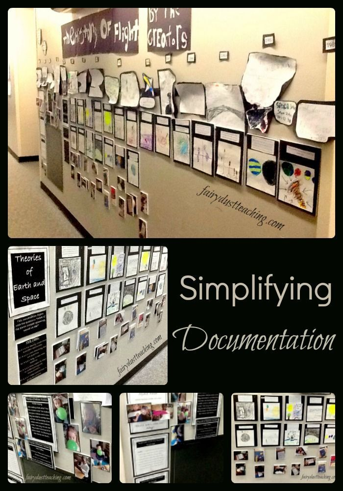 One of the most important elements of Reggio-Inspired teaching is documentation. From experience, I know this can be one of the most intimidating pieces of the approach to implement. Today I want to share one example of a documentation panel I created along with my students in a first grade classroom. | Documentation Ideas