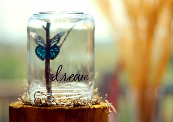 Dream |  Inspirational her | Butterfly gift | College graduation gift | College dorm decor | Gifts for teens | Going away gift