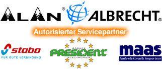 Autorisierter Servicepartner von Alan Albrecht, Stabo, President und Maas