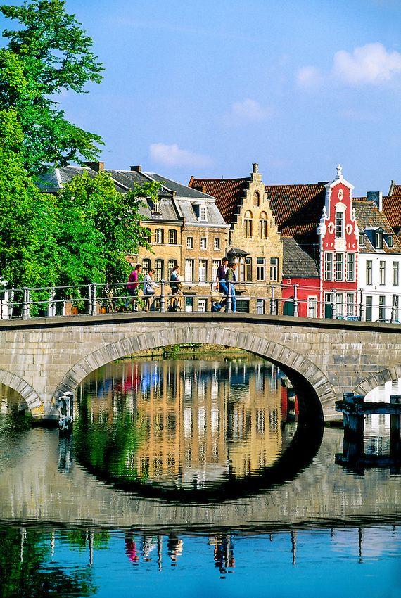 Along the canals . Brugge, Belgium