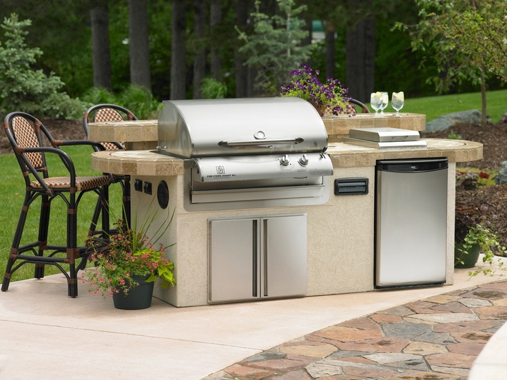 New Island #Grills With Refrigerator And Bar And Built In Speakers.