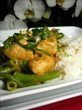 and Green Beans in Spicy Peanut Sauce | Recipe | Beans, Peanut sauce ...
