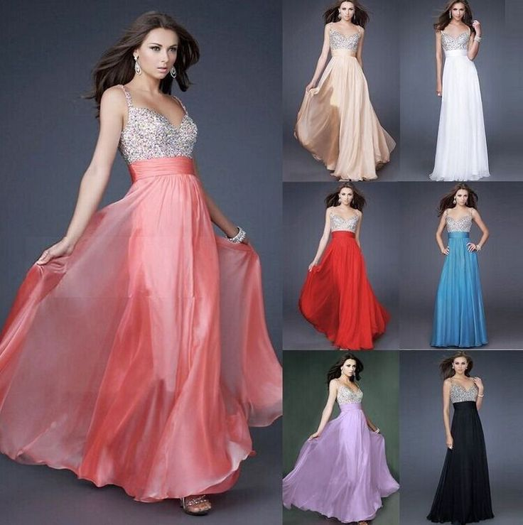 This fashion banquet gown featured with sequined V-neck makes you look shining under the light. And the natural long hem of skirt makes you look more elegant and fashion. It is the same pattern with c