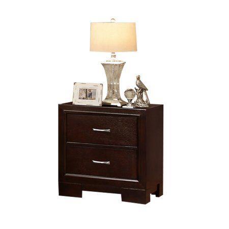 Titanic Furniture Wood Night Stand In Dark Brown Furniture
