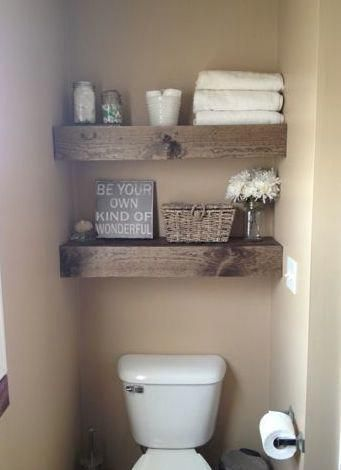 Those shelves above toilet are so pretty or maybe handsome would be a better wor…   – bathroom decor