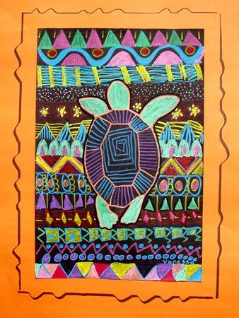 turtle, line, pattern