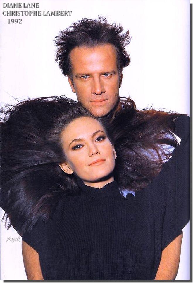 Diane Lane and 1st husband, Christophe Lambert ...1992