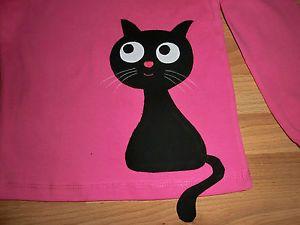LA-Shirt-m-Katze-Applikation-Gr-98-Farbenmix-Dawanda-Handarbeit-selfmade-Unikat