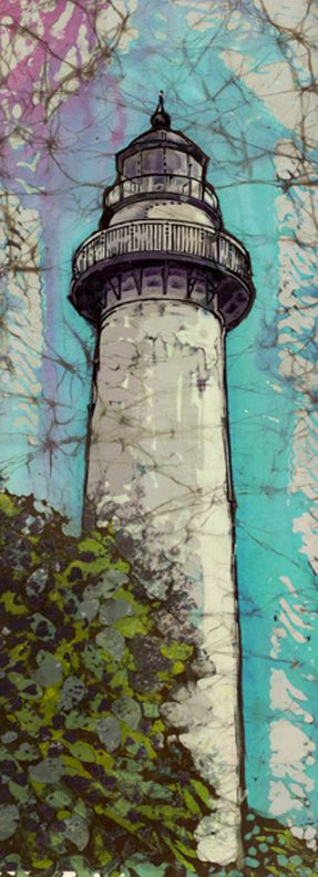 St Simons Light - Janet Searfoss batiks