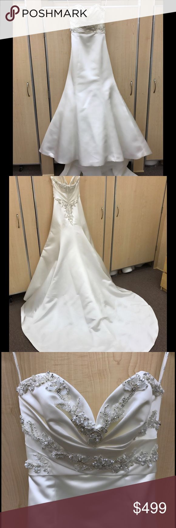 🎉💃🏿COMING SOON 🆕 ENZOANI WEDDING GOWN NWT❣️💍 BRAND NEW ENZOANI CANTERBURY BLUE WEDDING GOWN IN IVORY WITH SWEETHEART NECKLINE AND SATIN FABRIC , FIT AND FLARE DESIGN WITH GORGEOUS BEADING , FRONT AND BACK !! RETAILS FOR $1,500 NWT ENZOANI CANTERBURY Dresses Wedding