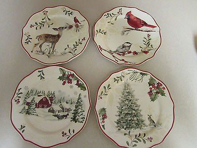 Christmas Better Homes And Garden Mistletoe Salad Plate Set Of 4 & 79 best Better Homes u0026 Gardens holiday heritage dinnerware ...