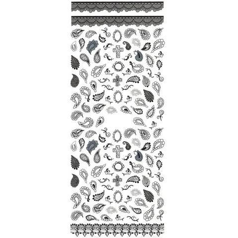 Daily Charme Nail Art Water Decals Dainty Decals - Lace & Paisley / Black