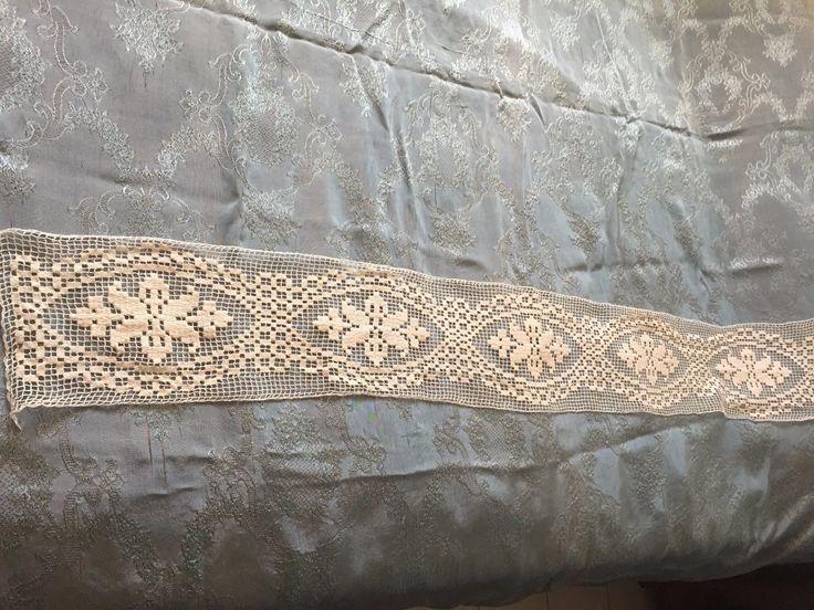 Beautiful Vintage Handmade Filet Lace | eBay