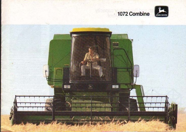 """John Deere """"1072"""" Combine Brochure Leaflet • £6.00 - PicClick UK"""