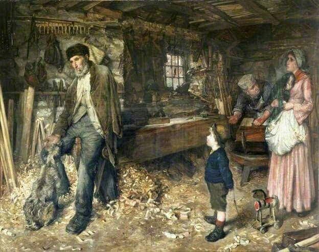"Ellen Clacy (1853-1916)  ""The old poacher""_1885"