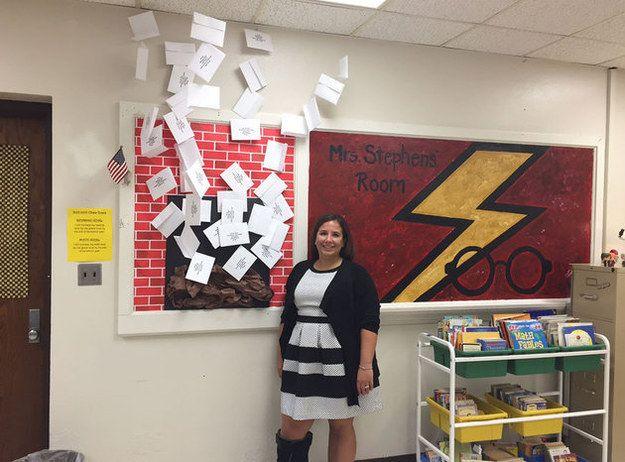 Stephens also happens to be a Harry Potter fan. | This Teacher's Harry Potter-Themed Classroom Is Beyond Amazing
