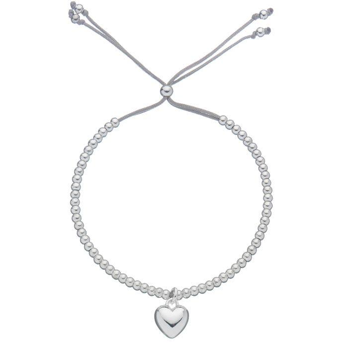 Estella Bartlett Silver Plated Heart Charm Grey Bracelet £12 from www.lizzielane.com http://www.lizzielane.com/product/estella-bartlett-silver-plated-heart-charm-grey-bracelet/
