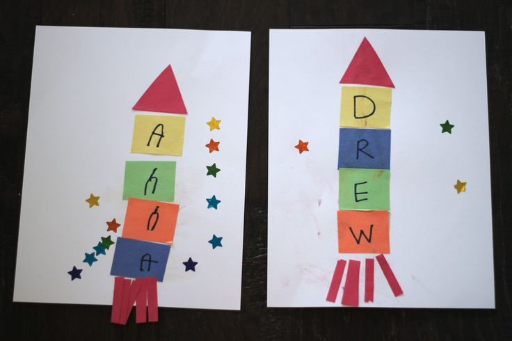 R is for rocket  Playing House: Rocket Ship Name Craft