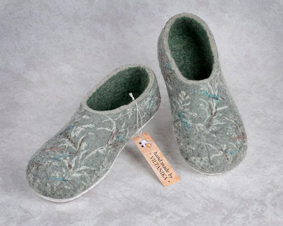 Felted slippers Mint by VILTANIKA on Etsy, €78.00