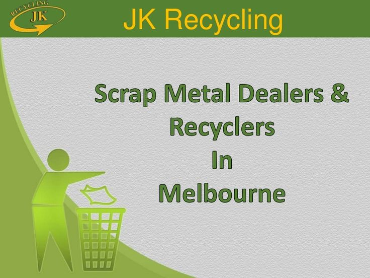 JK Recycling is one of Melbourne's leading independent scrap metal recyclers. We buy all scrap metal including steel, copper, aluminium, brass, stainless steel and lead from industry and the public. JK Recycling, 57 115 044 294, 360 Huntingdale Rd, Oakleigh South, Melbourne, Vic 3167, PH: 03 9543 4751, Fax: 03 9543 1666, Web: http://www.jkrecycling.com.au