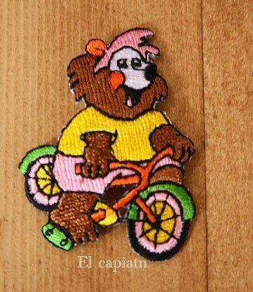 裏のり付き40×50mm2枚セットでの販売となります。お子様が喜びそうな自転車に乗ったライオン:*アイロンで貼る場合、必ず低温で当て布をしてからご...|ハンドメイド、手作り、手仕事品の通販・販売・購入ならCreema。