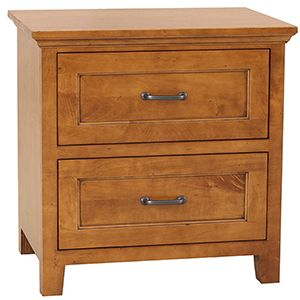 Cherry Nightstand with 2 Drawers - Small Space Nightstands   Stuart David Furniture