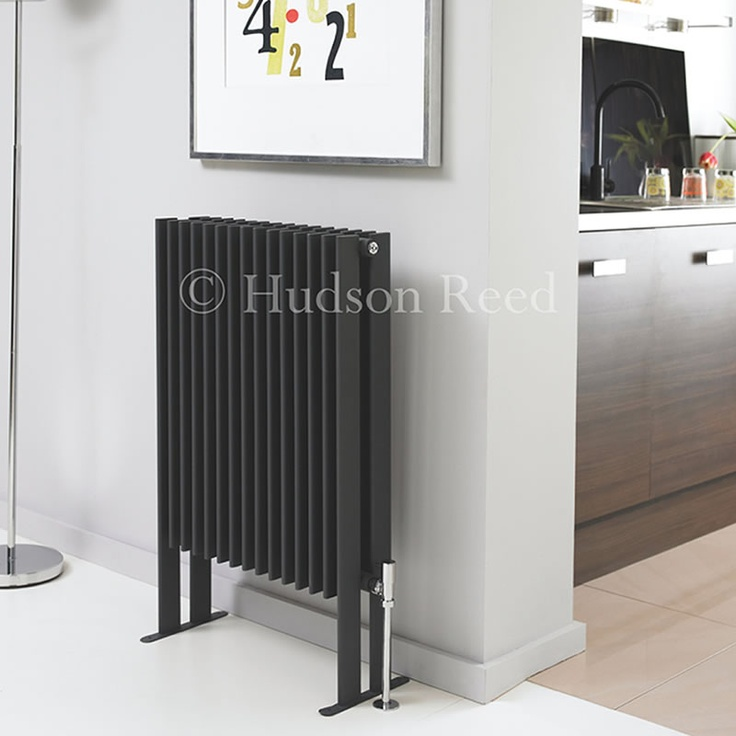 The 900mm x 570mm Double Panel Fin Radiator by Hudson Reed in High-Gloss Black is striking and contemporary by design.: Black Floors, Floors Mount, Design Radiator, Fin Floors, Hudson Reed, Black Fin, High Gloss Black, Mount Double, Double Panels