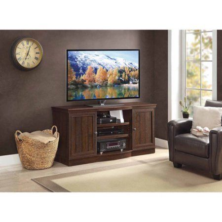 """Whalen TV Console for TV's up to 70"""", Rustic Brown Walmart $139"""
