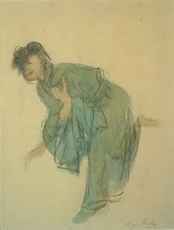 AUGUSTE RODIN (1840 - 1917) Hanako saluant, circa 1907