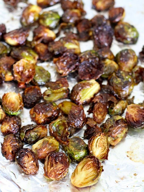 Crispy Asian Brussels Sprouts - man this does not feel healthy but sure sounds delicious. May be bake only half hour to preserve some nutrients but not be as crispy