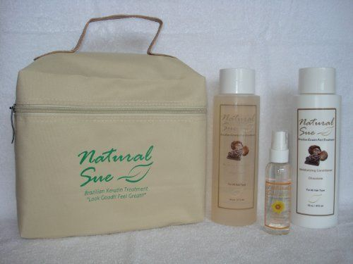 Natural Sue: Kit Brazilian Keratin Post-treatment - Salt-free Shampoo 16oz + Conditioner Chocolate 16oz + Silky Serum + FREE Travel Bag by Natural Sue. $31.00. Sunflower Seed Extract provides protection against heat and environmental damage.. Salt Free Shampoo Chocolate. Brazilian Keratin Post-Treatment. Perfect for colored hair too. Conditioner Chocolate. Shampoo: We do strongly recommend the regular use of our salt-free maintenance shampoo. Our salt-free maintenanc...