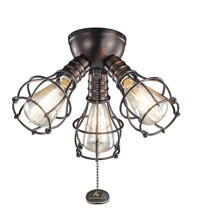 Features: -Ceiling fan light kit. -Utilitarian style. -Bulb base: S21. -Manufacturer provides 1 year warranty. -Light kit is a universal light kit. Dimensions: Overall Height - Top to Bottom: -6