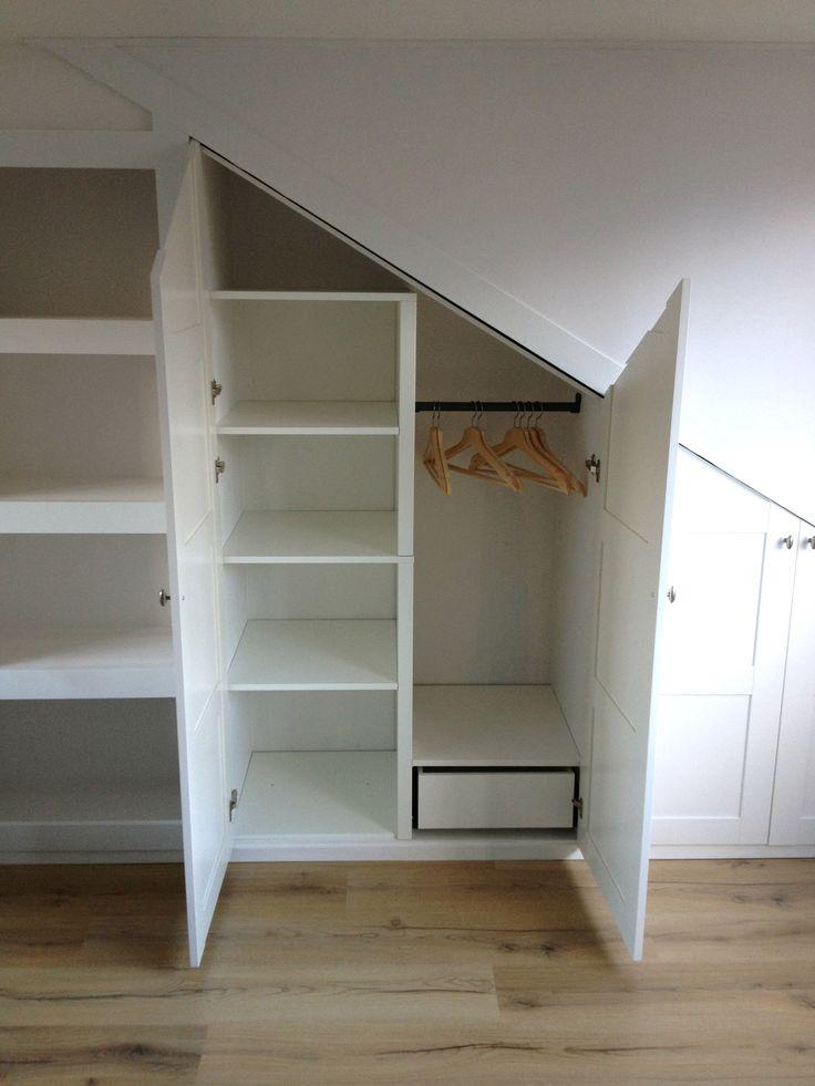 custom fit pitched roof wardrobe - Liebenswurdig Grunes Schlafzimmer Ausfuhrung