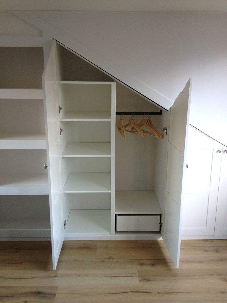 Custom fit pitched roof wardrobe