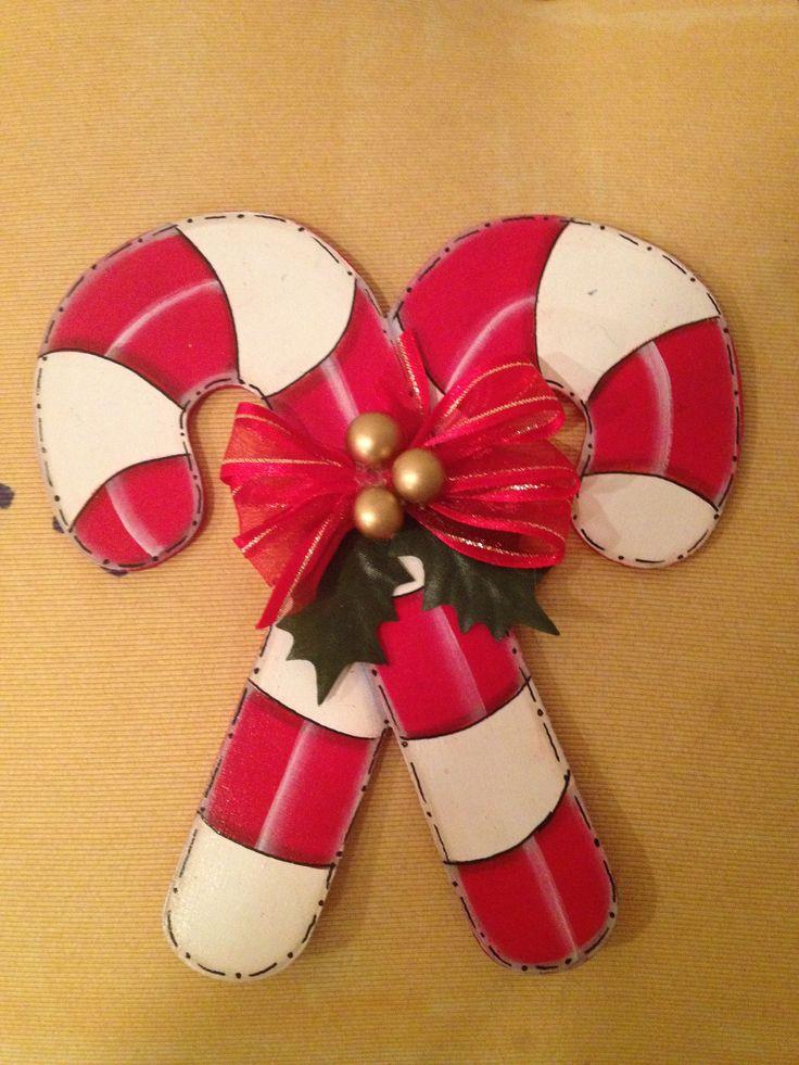 Bastones navide os en madera mdf todo para navidad - Cosas de madera para hacer ...