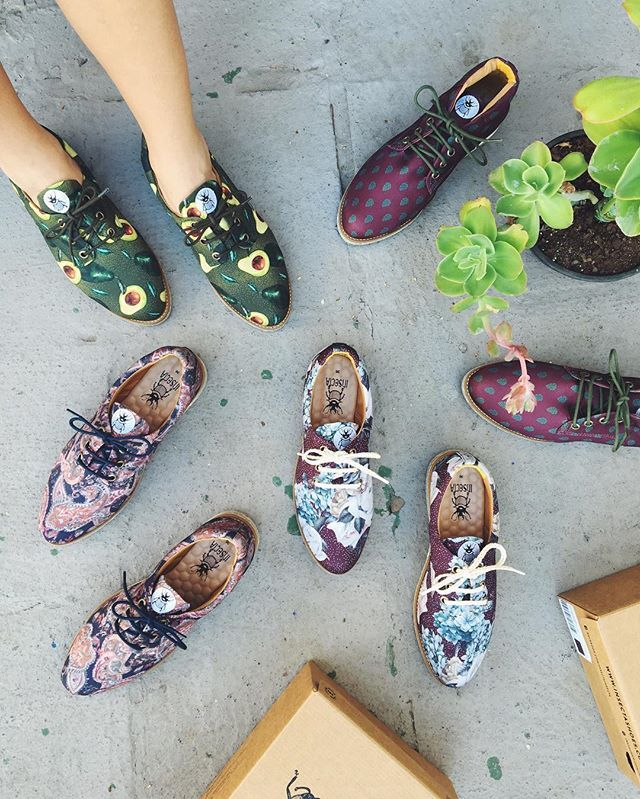 Insecta Shoes Insecta offers a unique 100 percent vegan selection of handcrafted shoes, made from vintage clothing.