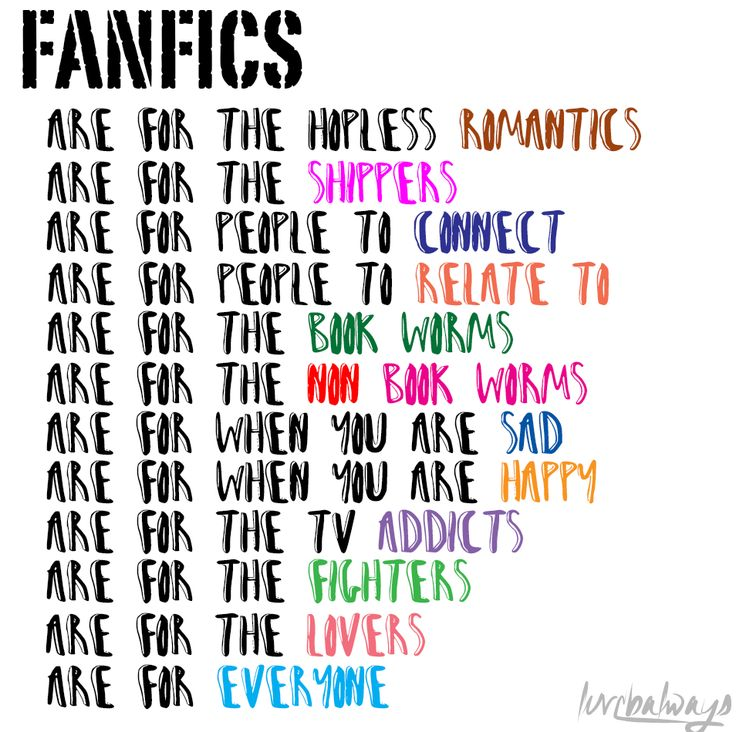 #Fanfics #WeLoveFanfics