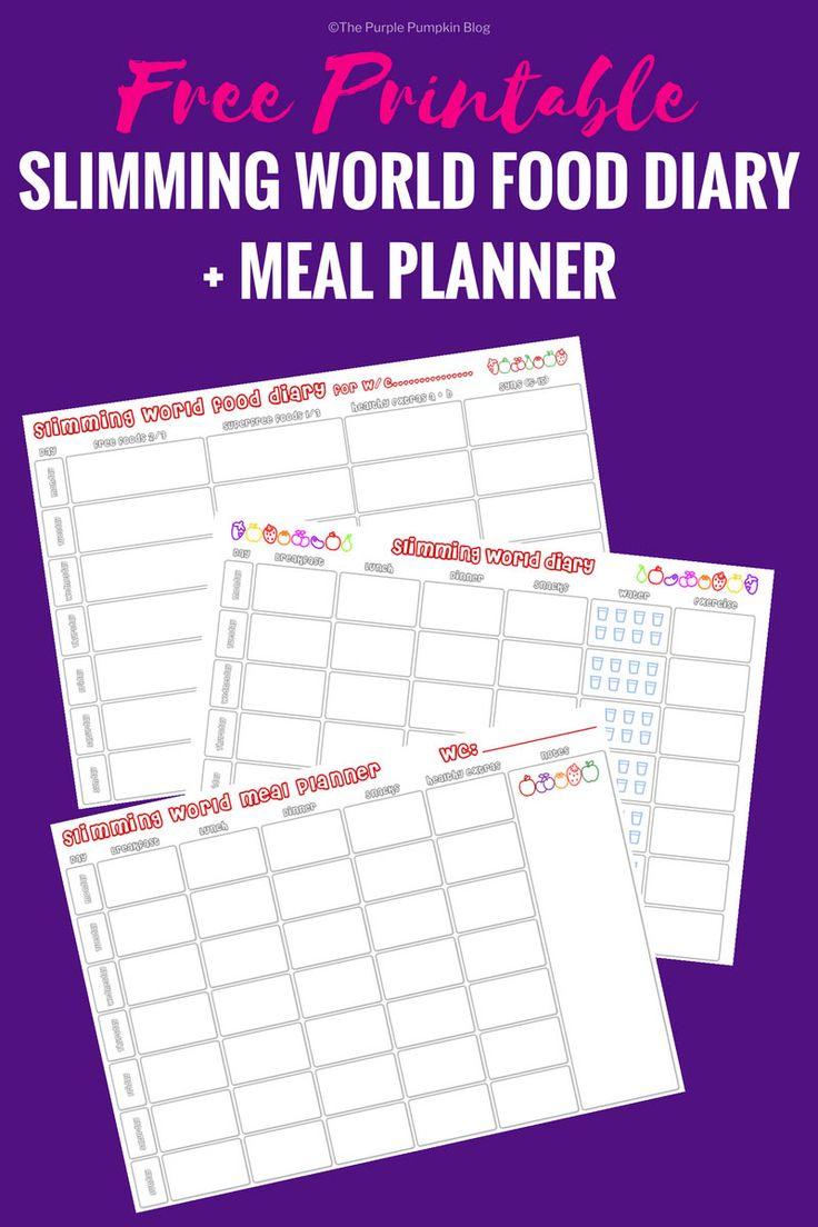 Slimming World Food Diary Printable | Meal Planner