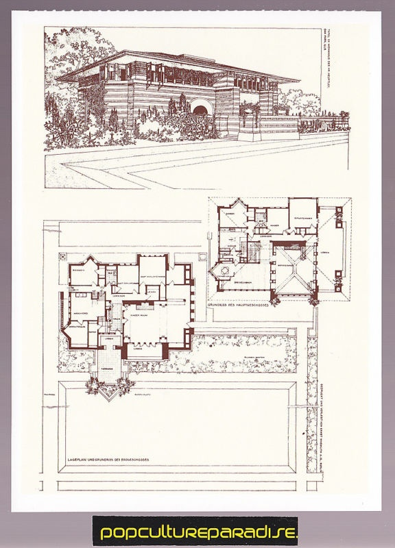Arthur b heurtley house 1902 oak park illinois Frank lloyd wright house plans free