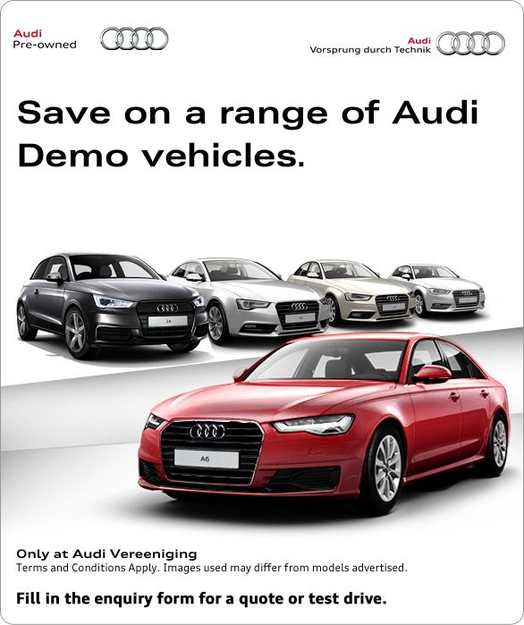 Save up to R100 000 on a range of Audi demos vehicles.