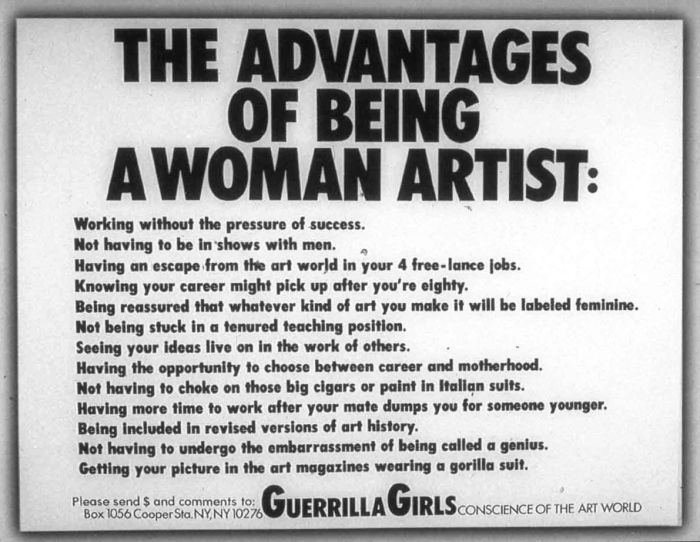 Manifesto Guerrilla Girls Guerrilha Historia Do Feminismo Feminista