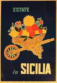 Sicilia vintage poster   Summer in Sicily