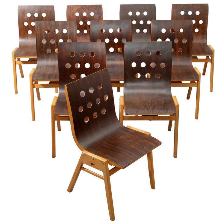 10 Stacking Chairs   Roland Rainer Vienna