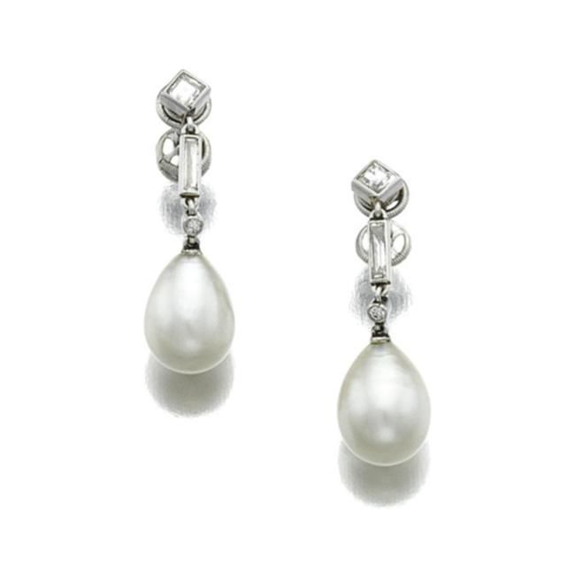 Cartier Pearl Earrings 1930s